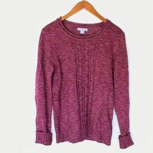 Laura Scott   Pink Knit Sweater